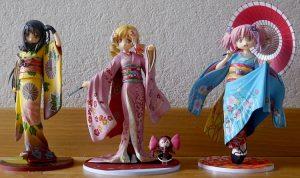 figurines manga- différentes tailles